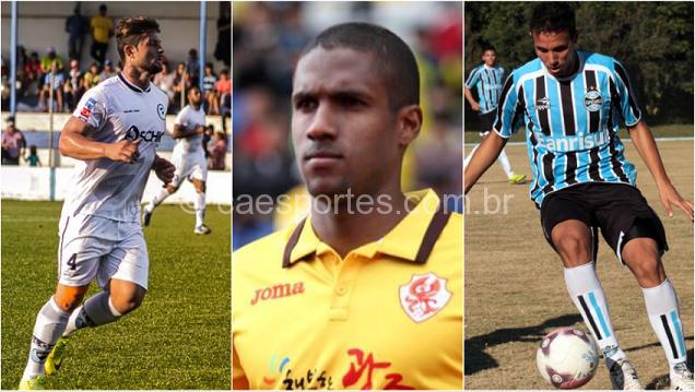 Da esquerda para a direita, Douglas, Romarinho e Renato Camilo (Fotos: divulgação)