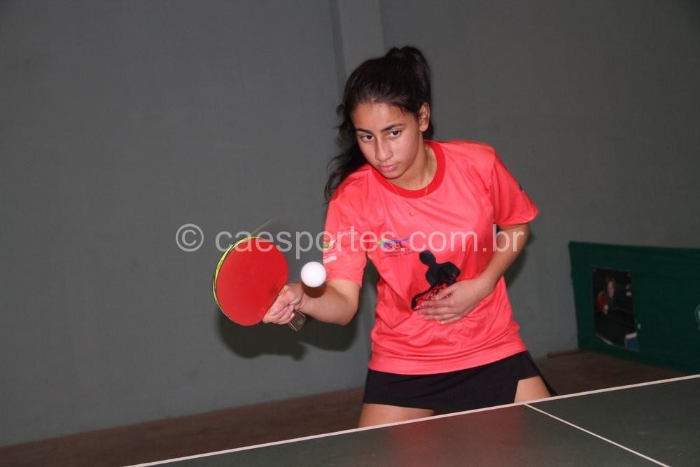 Érika Silva, da Escola de Educação Básica (EEB) Paulo Blasi, de Campos Novos foi campeã no tênis de mesa (Foto: Antonio Prado)