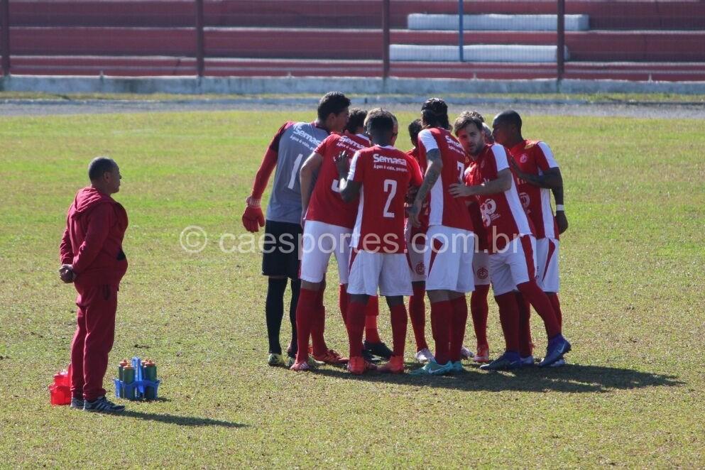 O Inter de Lages em campo no último domingo (Foto: Greik Pacheco