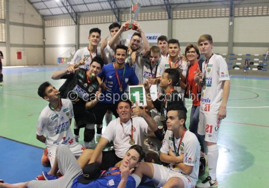 Concórdia faturou o titulo do futsal e de campão geralAscom ADR Chapecó