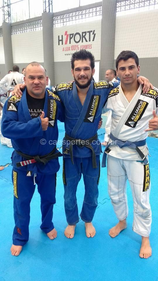 Aldori Bernardino e o seu aluno Jose Guilherme Correa, participaram do grande evento de jiu-jitsu,