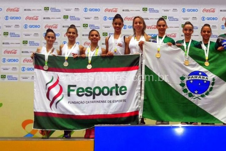 Ginástica rítmica conquistou medalha de prata (Foto: divulgação)