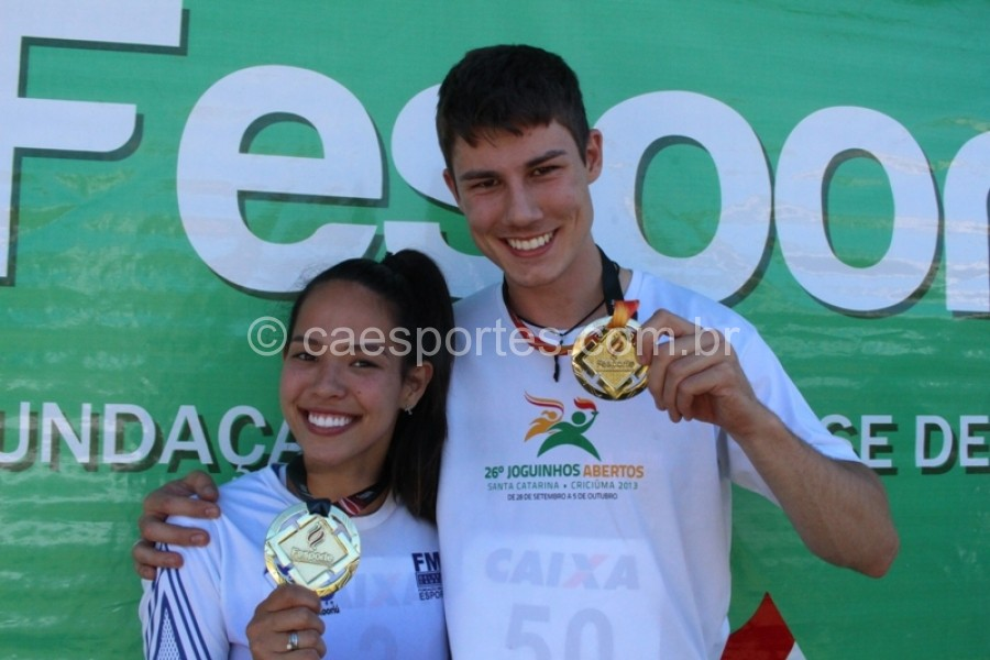Willian Deschamps, de Blumenau, e Anny de Bassi, de Baneário Camboriú, conquistam bicampeonato dos 100mLucas Inácio