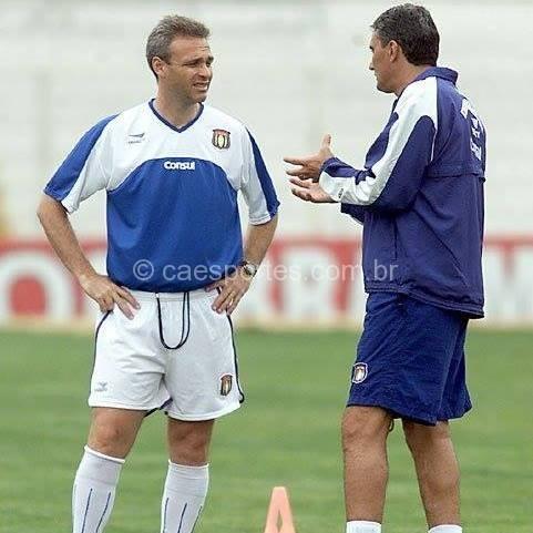 Joel Cornelli e Tite nos tempos de São Caetano (Foto: arquivo pessoal)