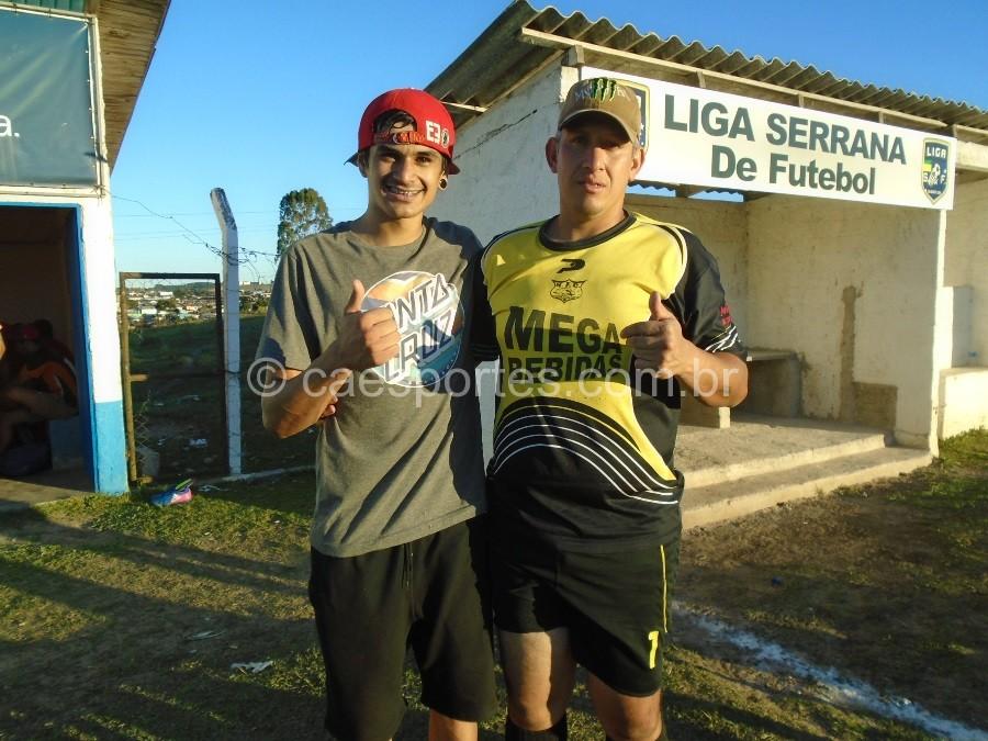 Guilherme- atacante Jean vitorio-goleiro Atletas do Cristal WL Madeiras