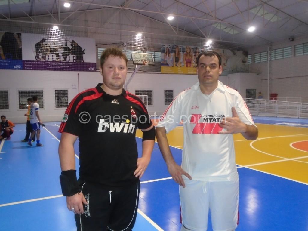Paulo e Lucino (20 autores dos gols do empate da equipe do Myatã Vidal com o Mezzalira